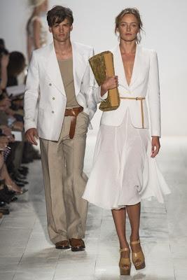 michael kors, new york fashion week, spring summer 2014, white attire, midi skirt, new york fashion week, spring summer 2014, ss 14, nyfw