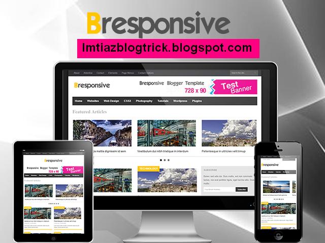 1. Bresponsive – Professional Premium Blogger Template