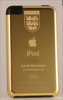 ipod bañado en oro de Beckham