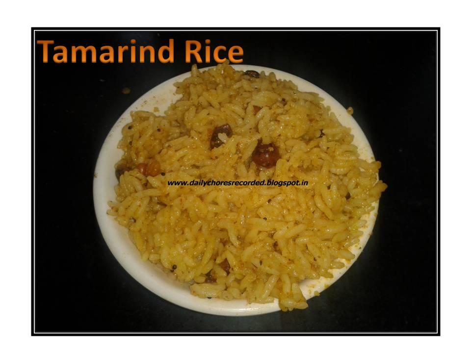 Tamarind Rice (Puliogare)