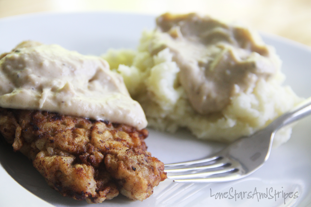 Chicken-Fried Steak With Cream Gravy Recipe — Dishmaps