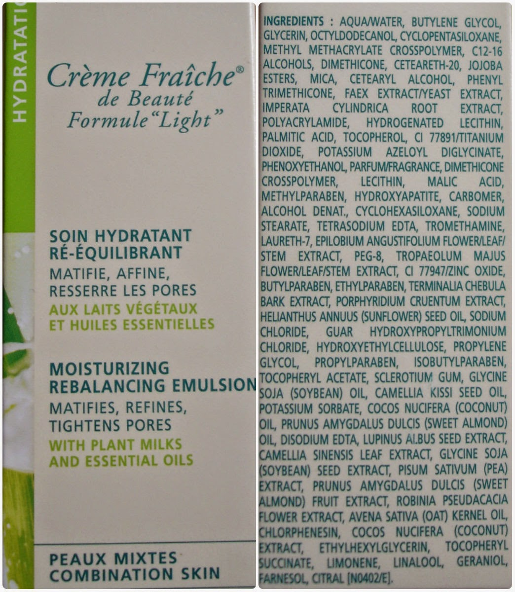 Nuxe Creme Fraiche de Beaute Formule Light состав