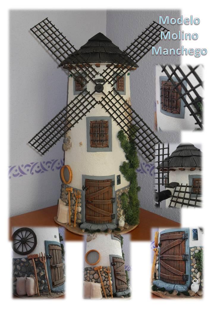 Tejas decoradas en relieve modelo molino manchego for Puertas de tejas decoradas