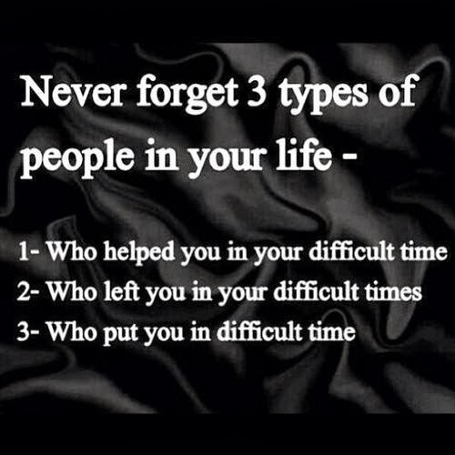 Never forget 3 types o...