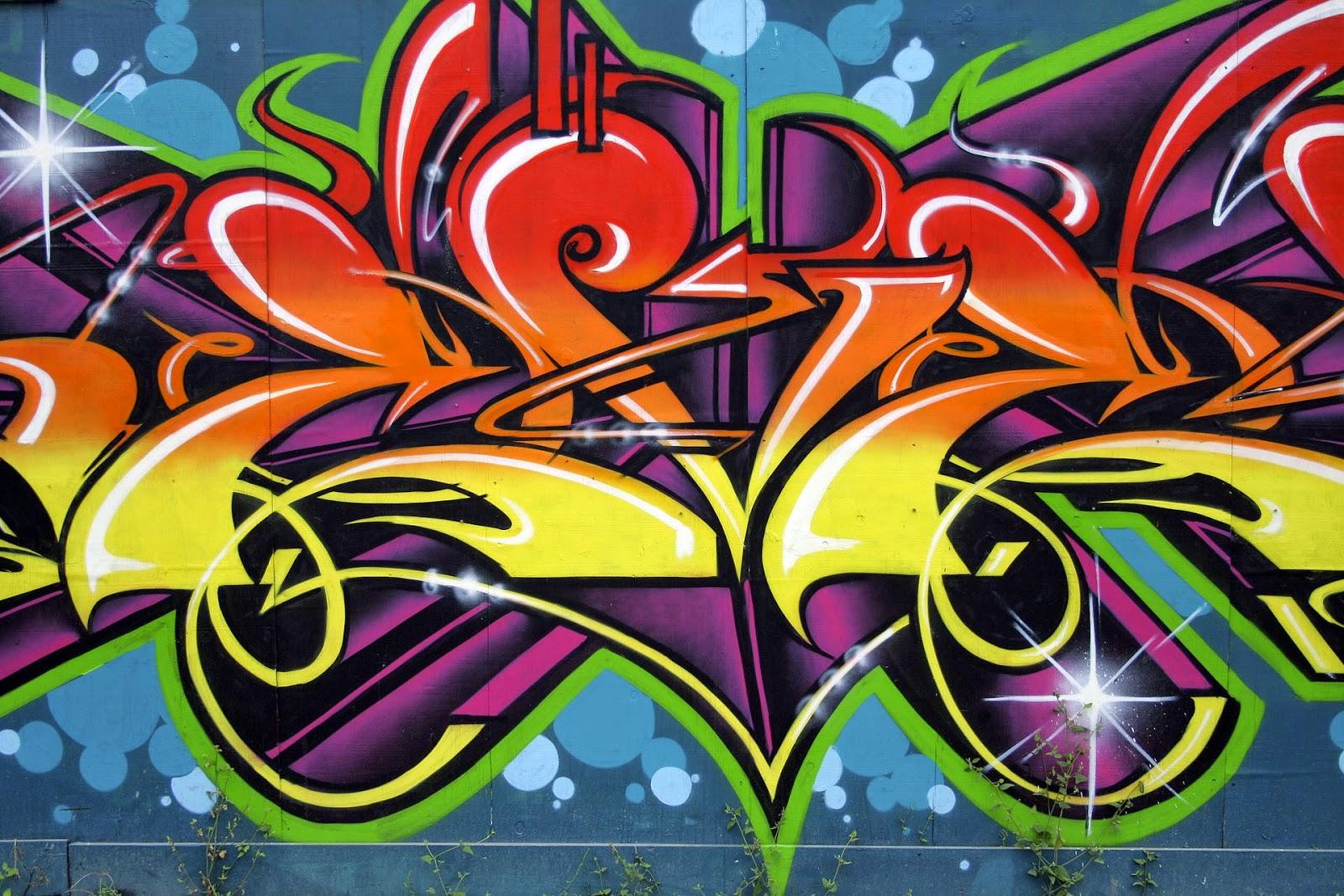 Pin The Colorful Graffiti Wallpaper Hd Free For Desktop