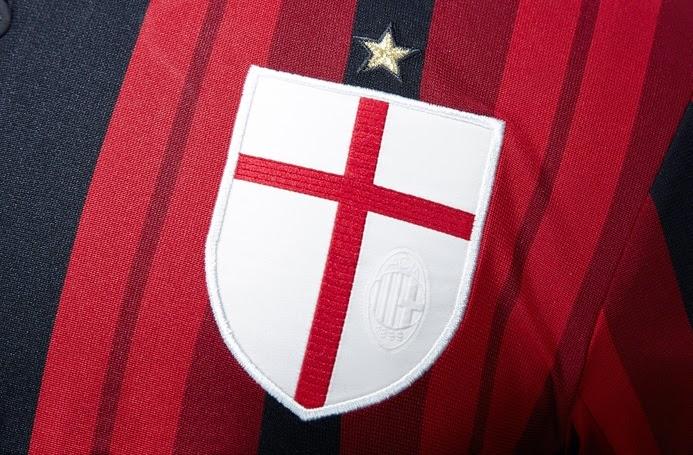 Logo Club Ac Milan Pada Jersey Terbarunya Official 2014 - 2015