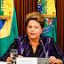 A Presidente Dilma, divulga nota dos possíveis interesses da espionagem
