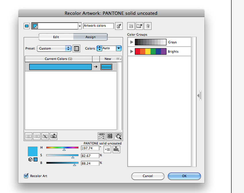 how to choose and exact pantone color in illustrator