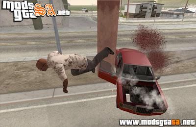 SA - Mod Voar Quando Bater o Carro Igual ao GTA IV
