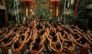 Tari Kecak Desa Batubulan pulau Bali