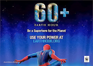 spiderman in earth hour