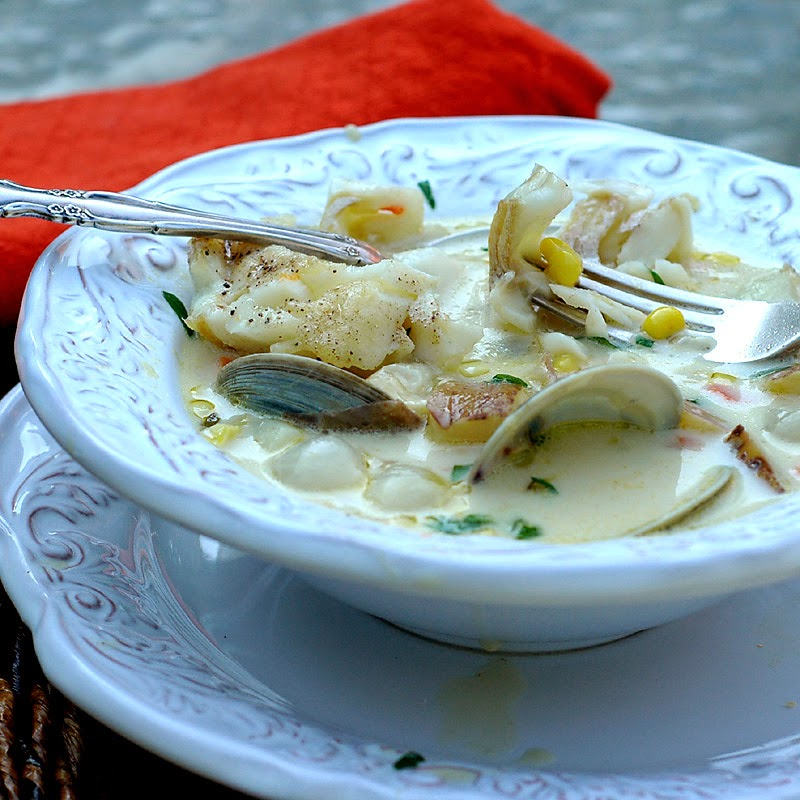 Savoring Time in the Kitchen: Clam, Halibut and Sweet Corn Chowder