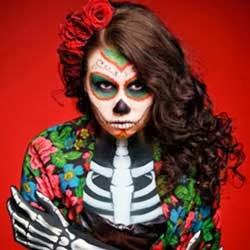 disfraz de esqueleto body paint