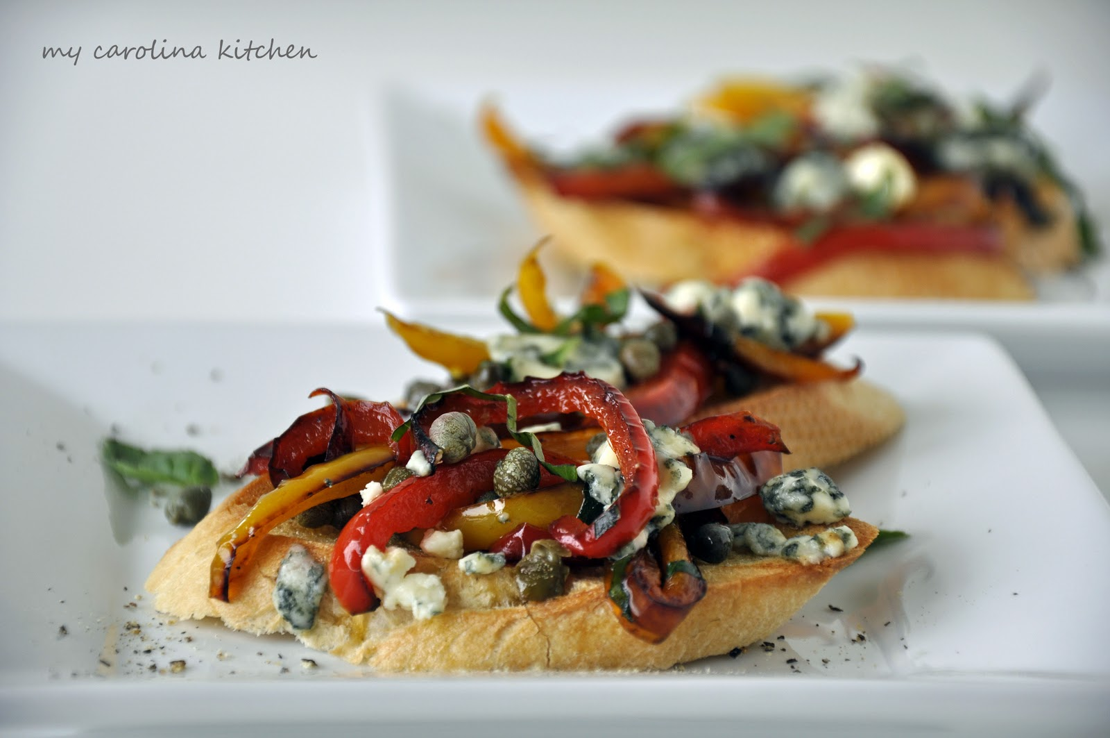 Ina Garten Appetizers My Carolina Kitchen Bruschetta With Sautéed Sweet Peppers And