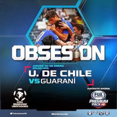 U de Chile vs Guaraní en Vivo