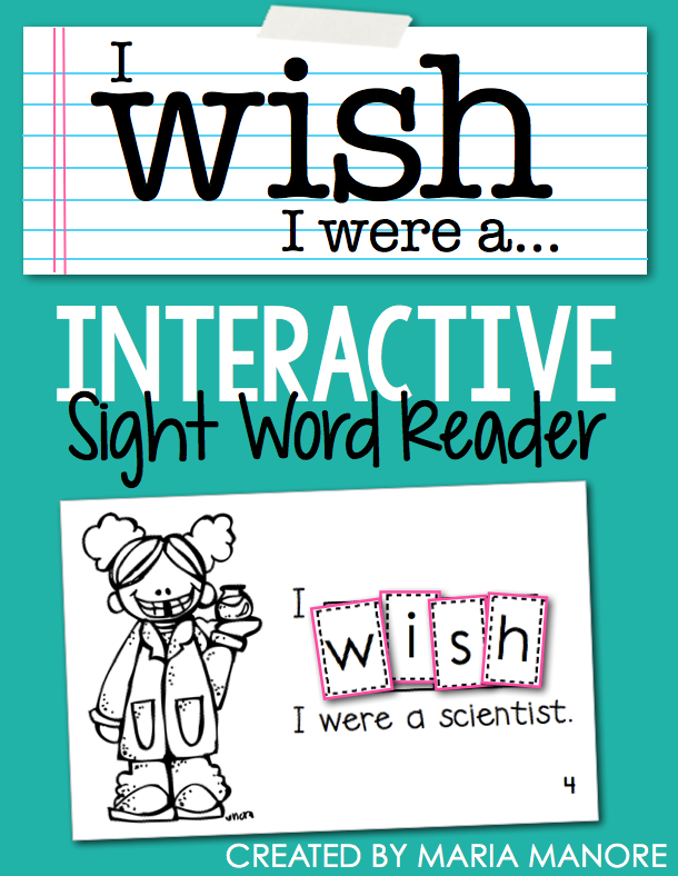 "emergent reader for sight word ""WISH"""