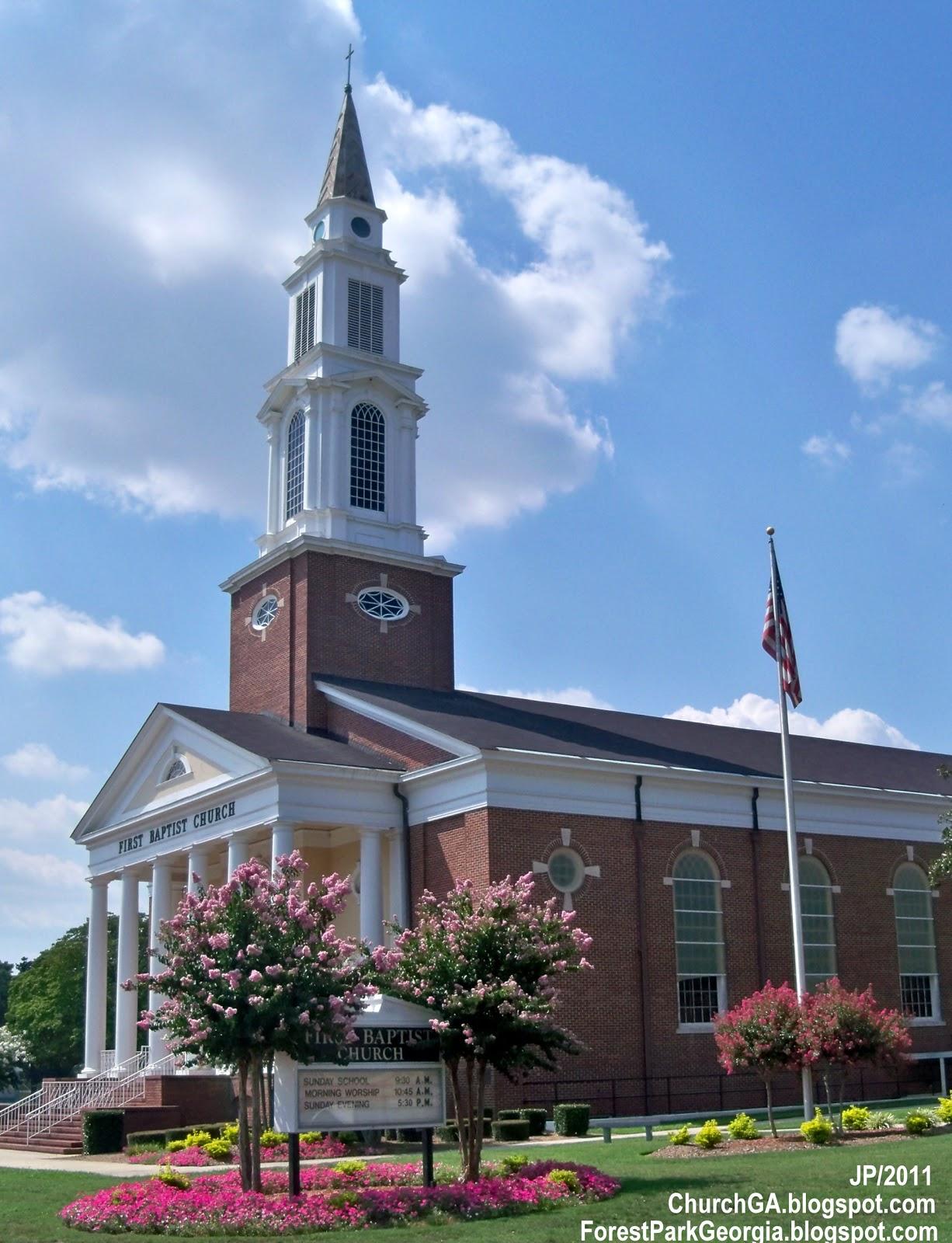 BAPTIST CHURCHES FOREST PARK FIRST CHURCH Forest Park Georgia Clayton County GA