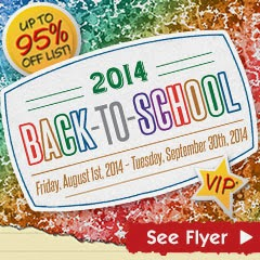 Back to School Sale Fall 2014