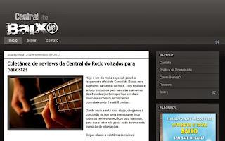 Lançamento da Central do Baixo... novo portal com conteúdo voltado para baixistas - www.centraldobaixo.com