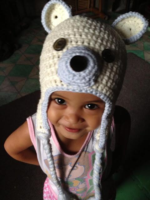 Polar Bear Crochet Beanie