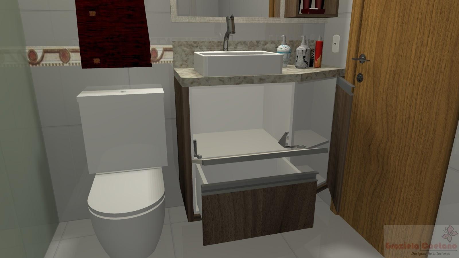 Espaço Nobre Design: Banheiro (Narita x Nogueira Boreal) #644825 1600x900 Balcão Banheiro Lojas Becker
