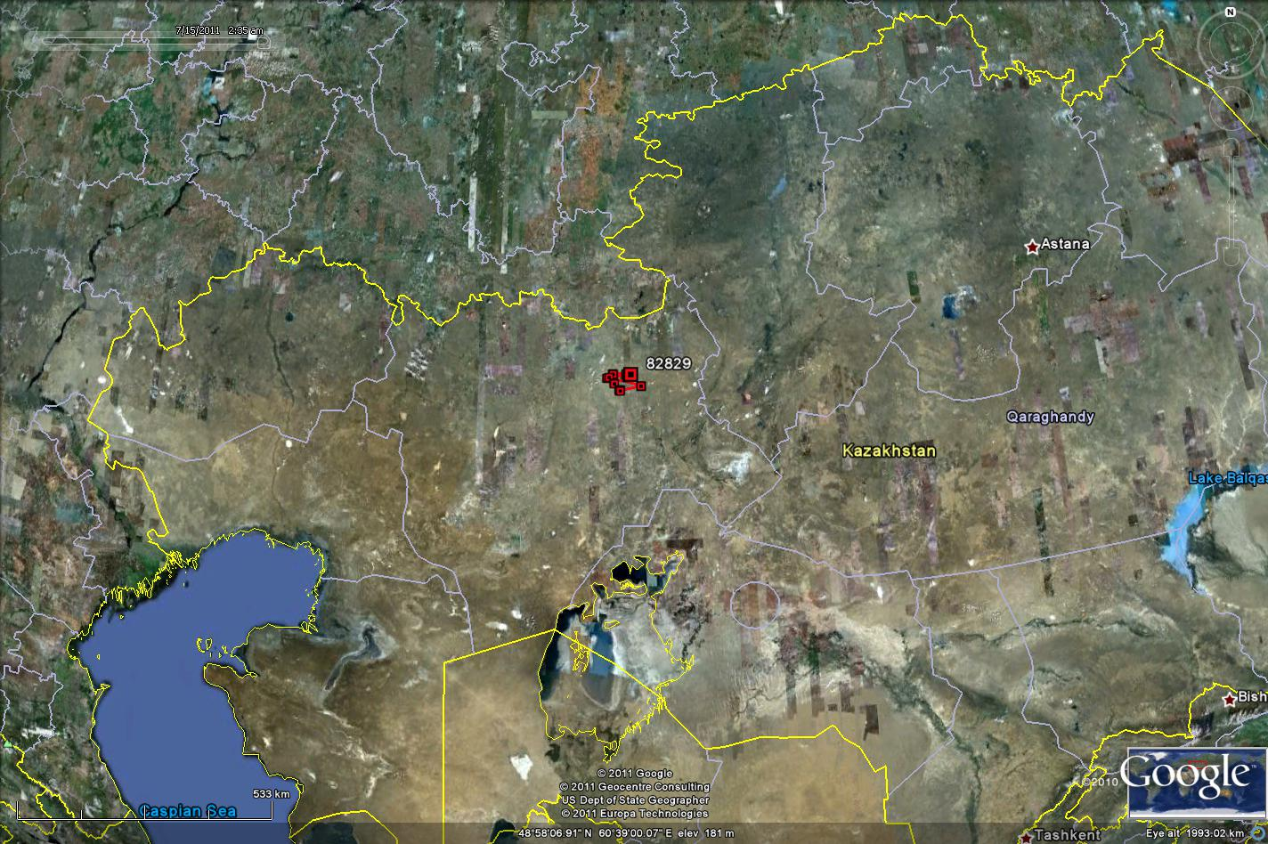 the last pallid harrier that we are tracking remains in kazakhstan however it has moved further west in the past month