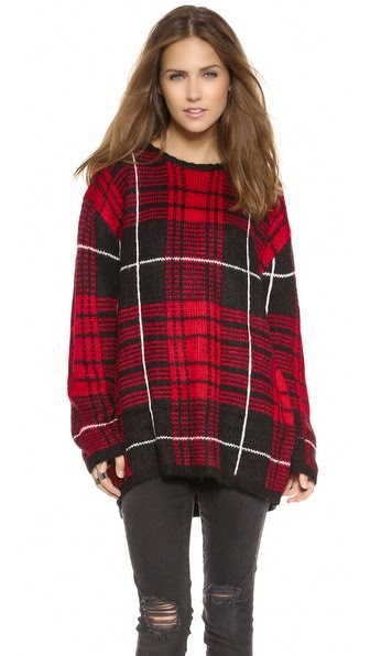 Jumbo Plaid Sweater by: UNIF @Shopbop