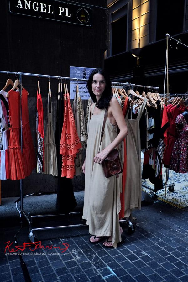 Stall Holder, Fashion Market Stalls cross section markets Angel Place Sydney