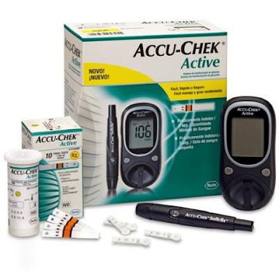 jual alat test gula darah accu chek active murah, alat tes gula darah terbaik