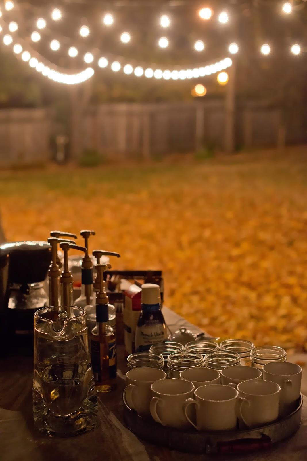 domestic fashionista backyard fire pit and game night