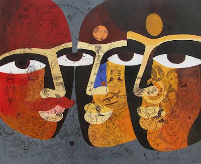 Painting by Jinal Gada at Pradarshak