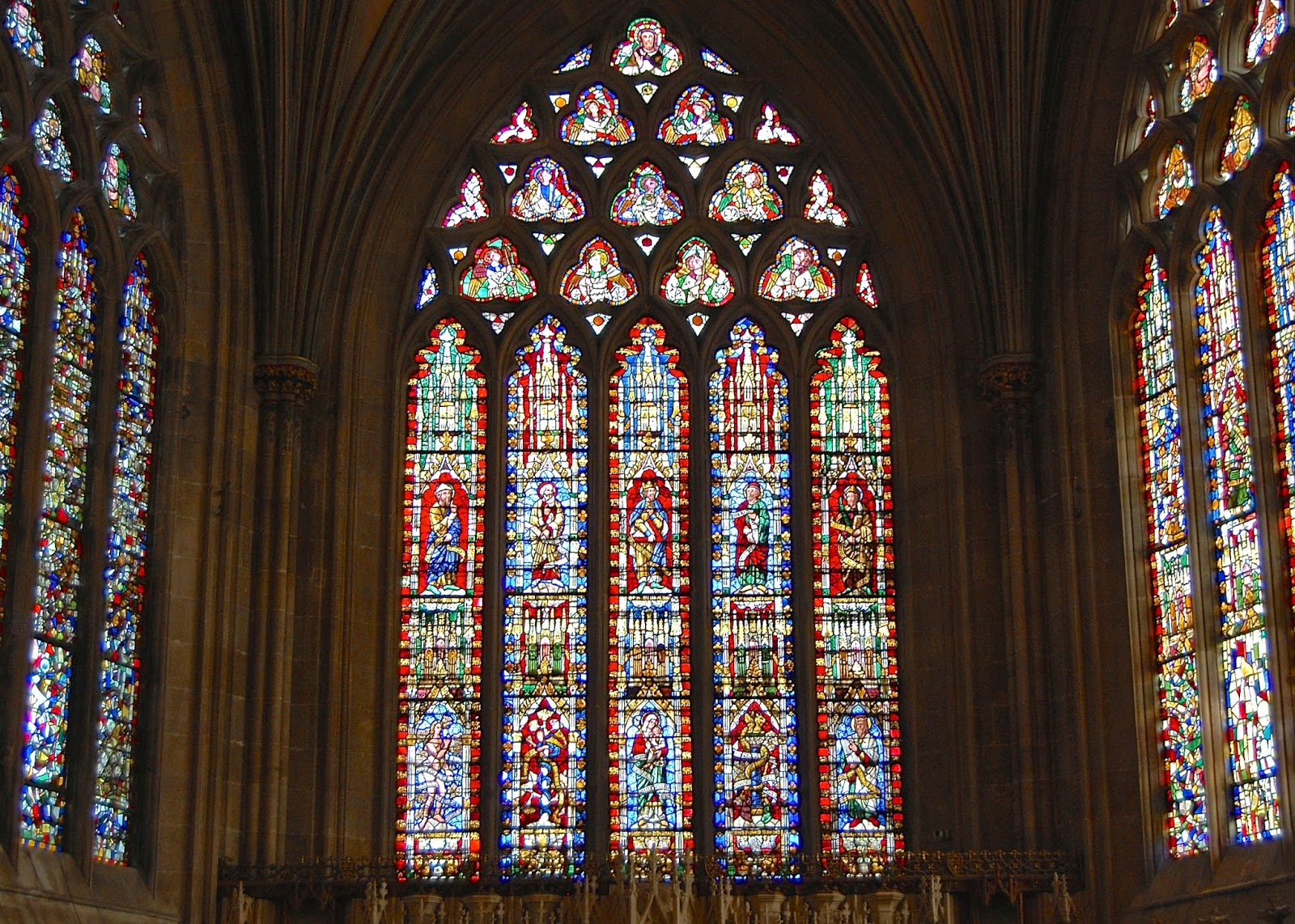 Successfully reconstructed stained glass windows in Lady Chapel