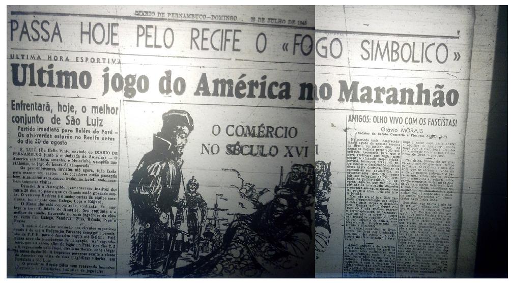 MEMÓRIAS ESMERALDINAS: América 2x2 Moto Clube/MA em julho de 1945