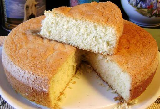 Torta de vainilla sin mantequilla