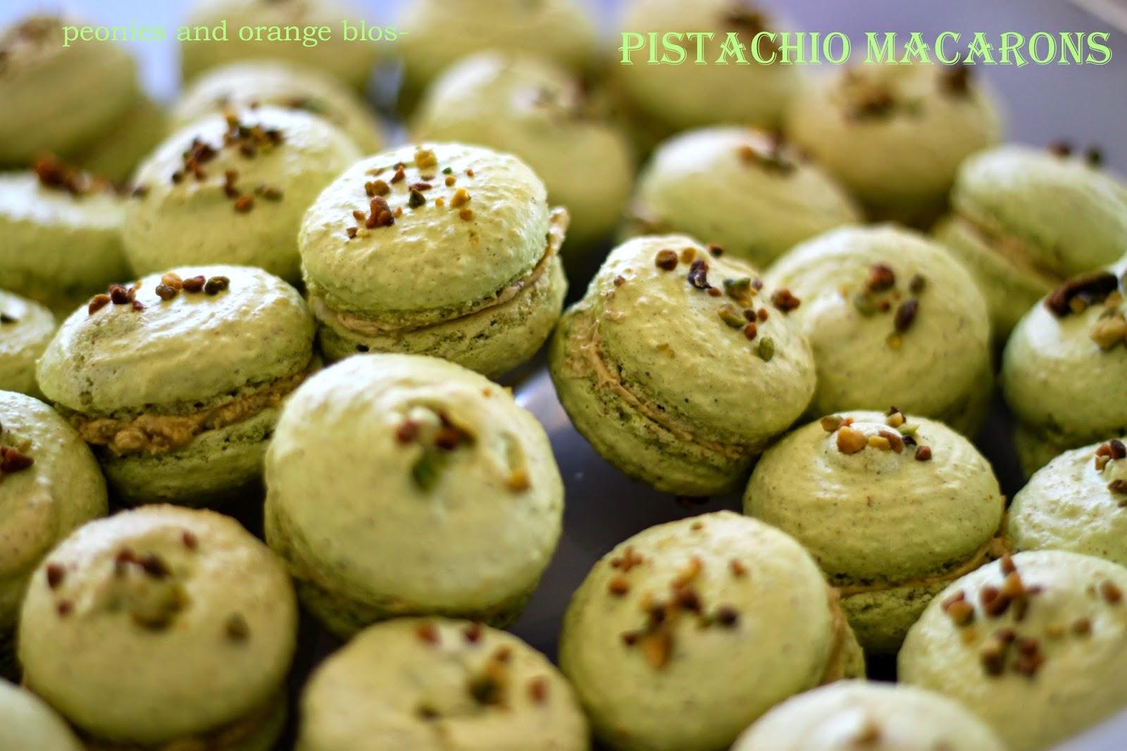 Pistachio Macarons!