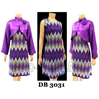 DB3031 - Model Baju Dress Batik Modern Terbaru 2013