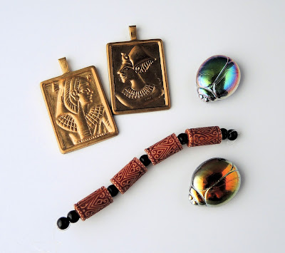 Beads and pendants with Egyptian theme