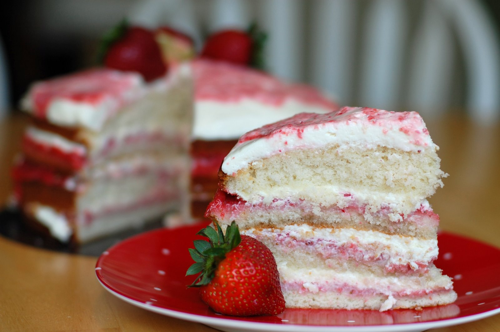 Barefoot and Baking: Strawberry-Lime Cream Cake