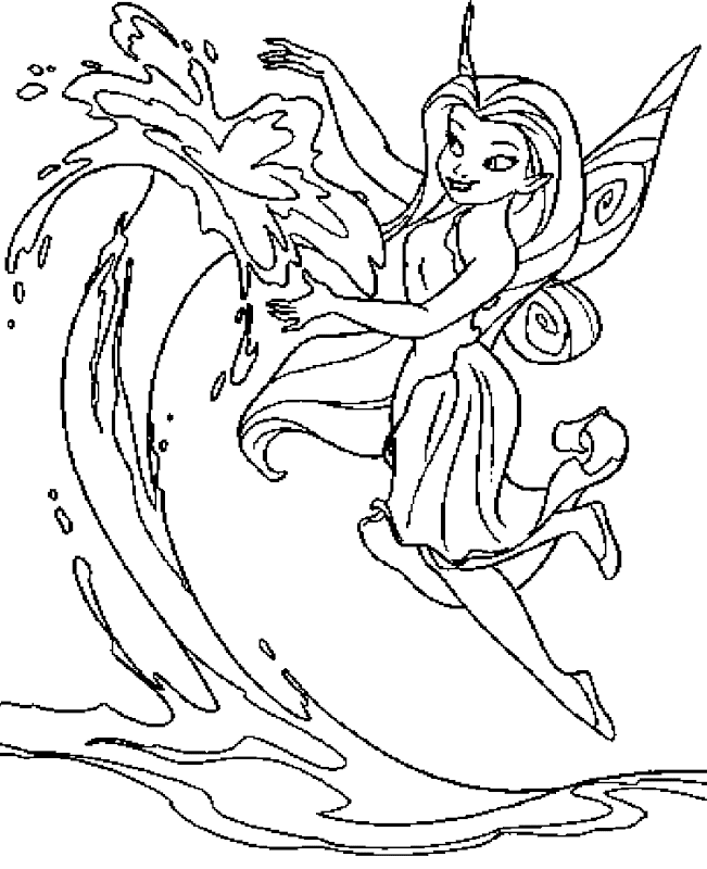 Free beautifull disney fairies silvermist coloring pages title