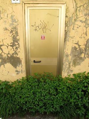 Door blocked by grass, Livorno