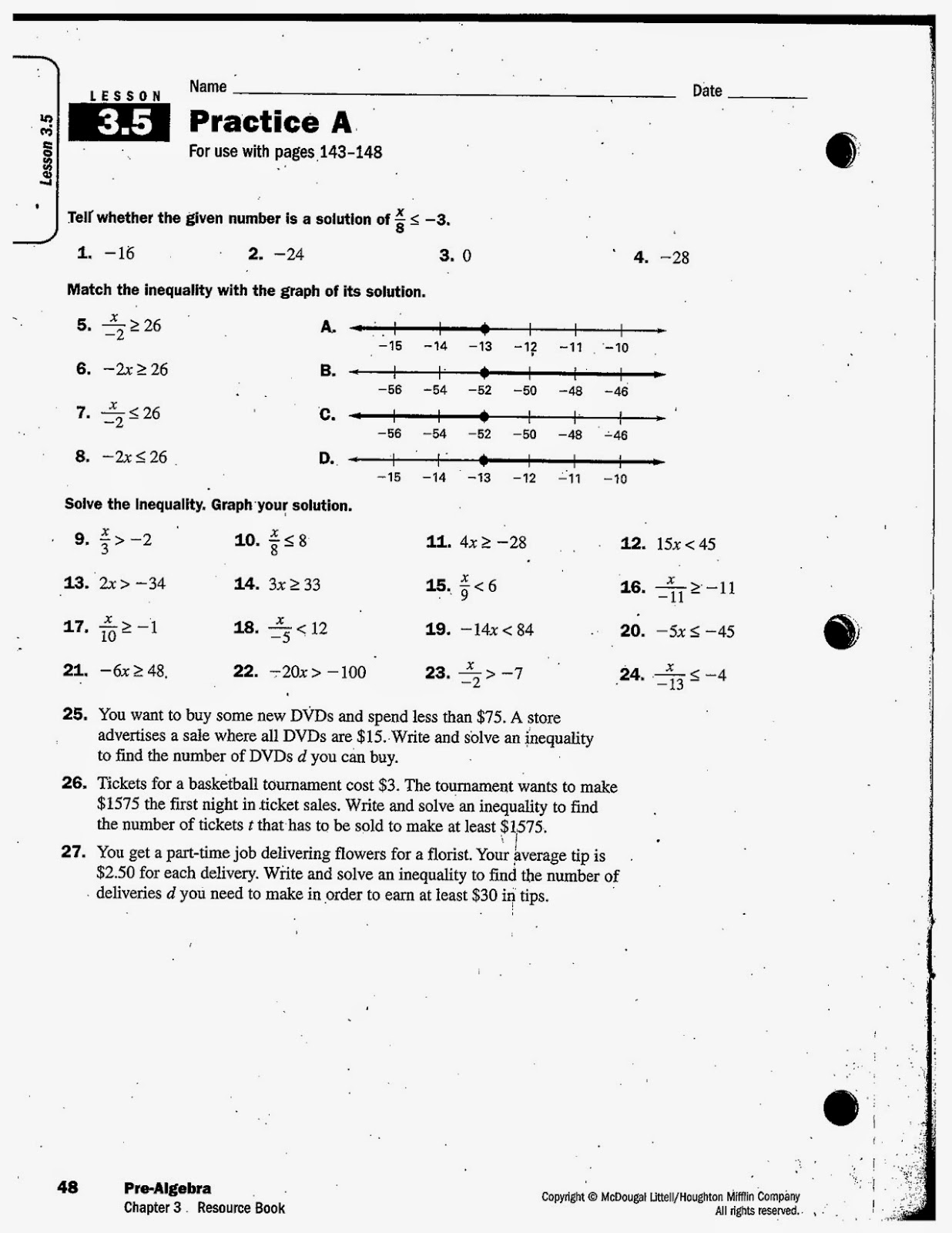 heidemann th grade math  here is today s assignment please see the notes from 3 5 and instructional video