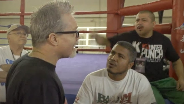 Freddie Roach Kicked by Alex Ariza fight video.