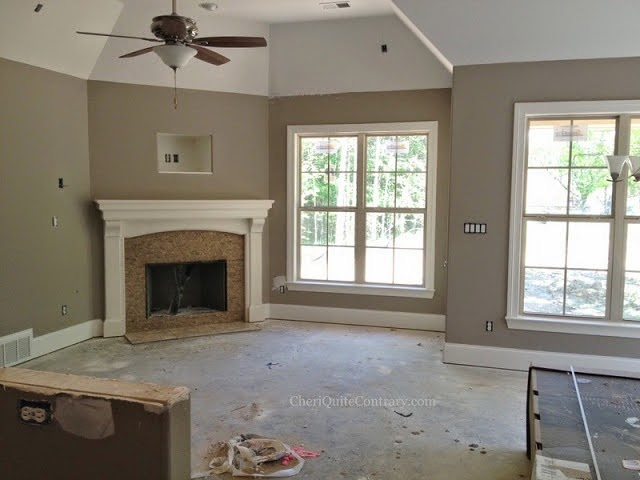 Relaxed Khaki Living Room Walls Compliment Colors