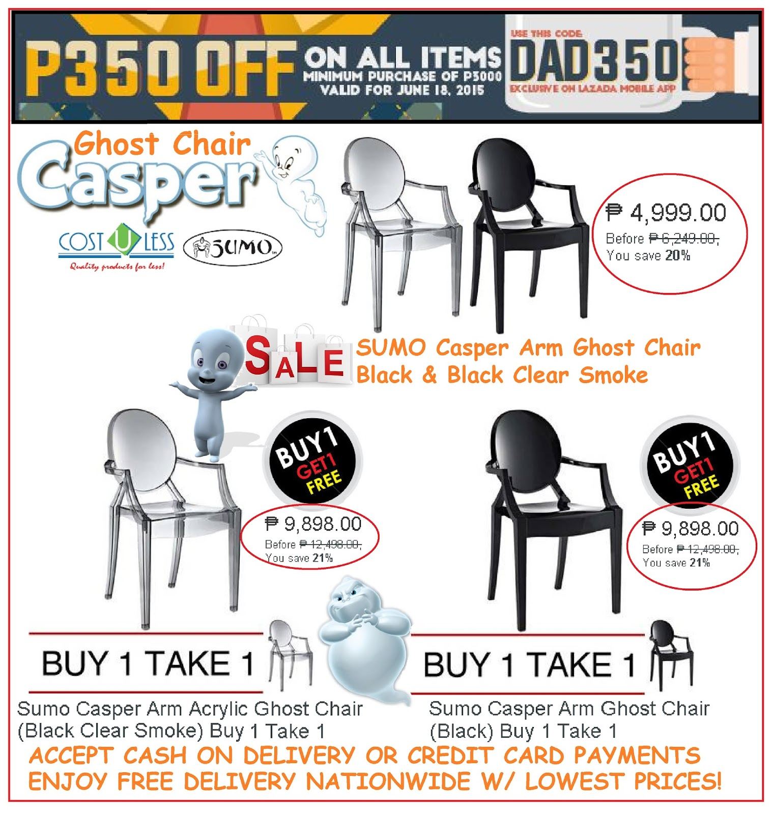 ghost chair for sale philippines. home furniture - casper ghost chair sale dad\u0027s day promo for philippines