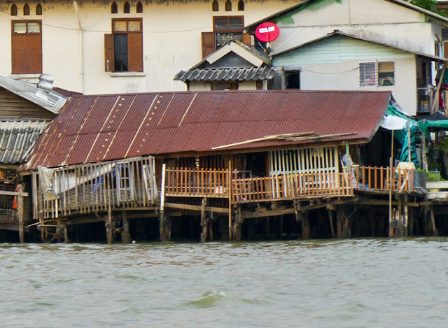 Maison au bord du chao phraya à Bangkok