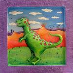 Dinosaurio y Volcán