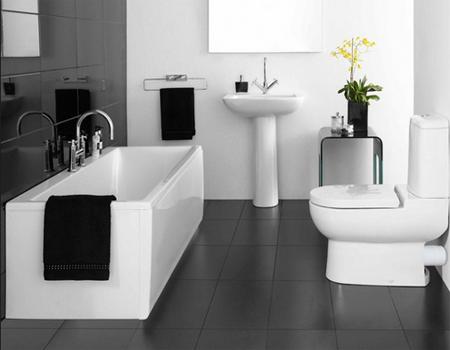 desain keramik kamar mandi hitam putih