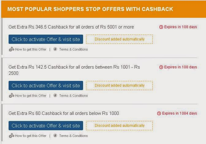 Indian Fashion Store, Cashkaro, Indian Beauty Store, Deals and discounts online, EOSS 2014, Cashback offers
