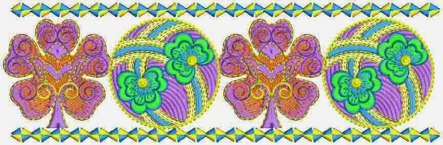 Stand Alone Lace Embroidery Designs : Embdesigntube spectacular embroidered lace border designs