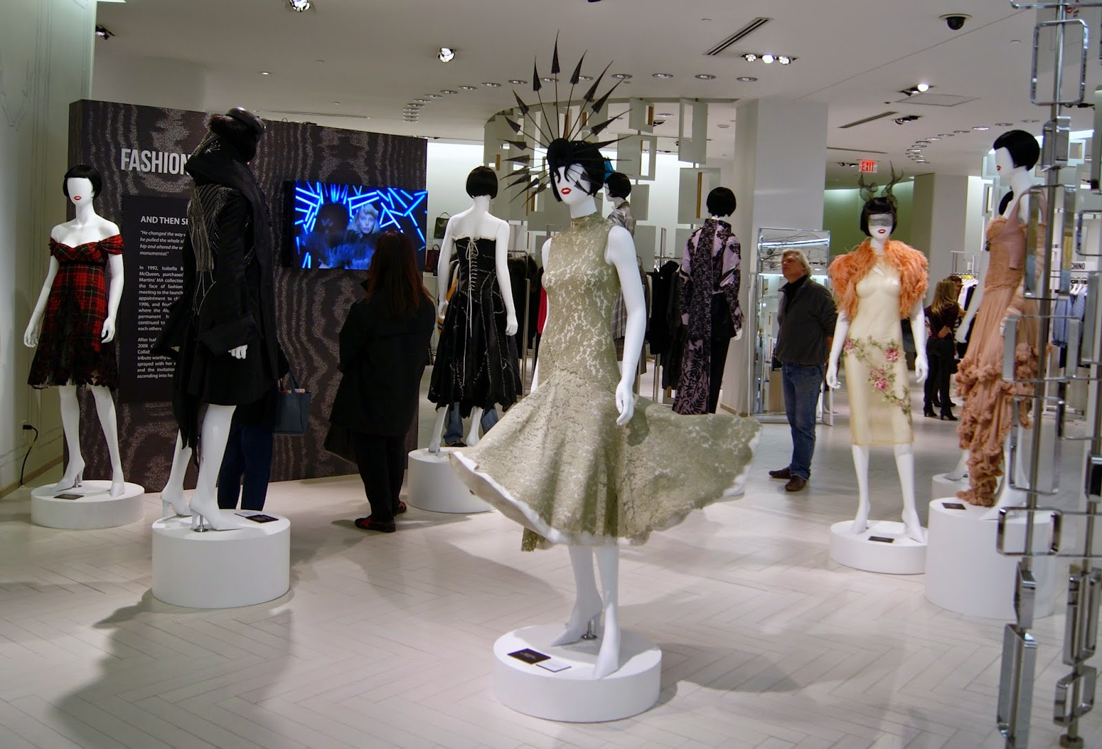 Fashion Blows Exhibit at Hudson's Bay in Toronto, Isabella, Daupne Guinness, Style, Culture, foundation, alexander mcqueen, philip treacy, suicide,the purple scarf, melanie.ps, ontario, canada, the room,